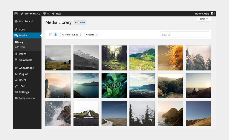 wordpress-media-uploader-library-images-video