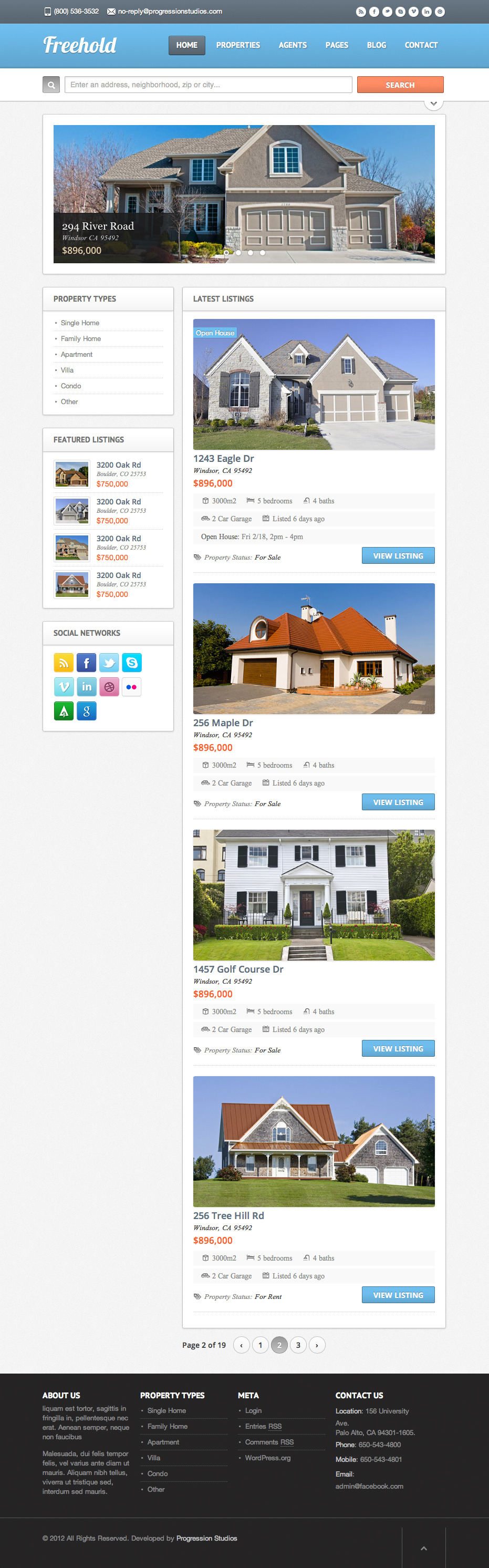 real-estate-wordpress-theme-Freehold