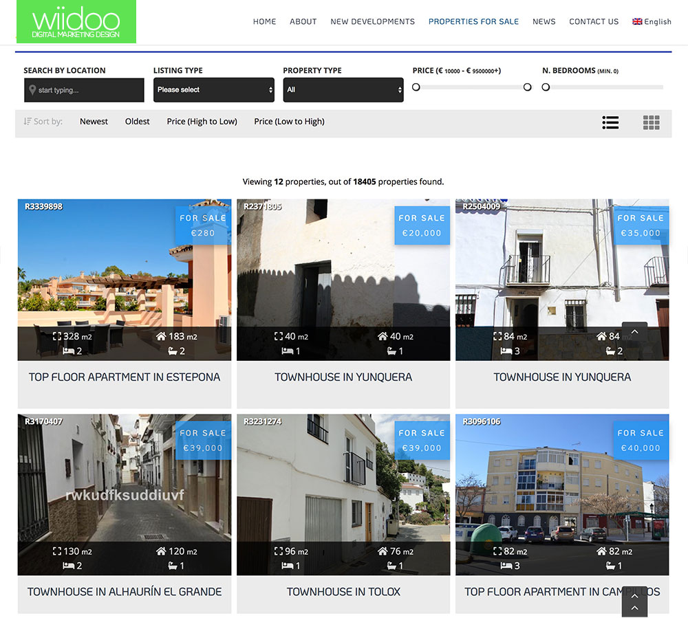 Resales Online for Costa Del sol Property WordPress Plugin